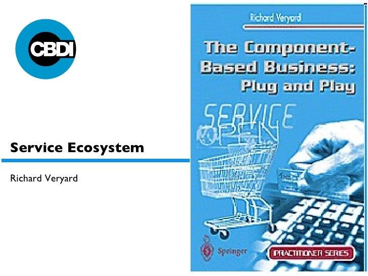 Service Ecosystem Richard Veryard