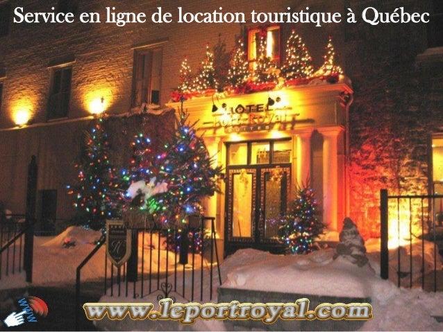 Service en ligne de location touristique à Québec