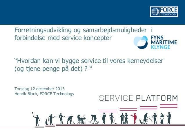 Servicefunktioner i industri og handel 14 12 2013 v1