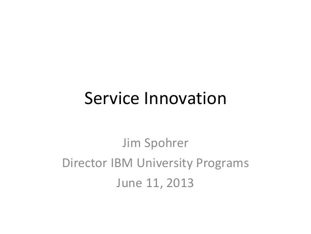 Service innovation 20130611 v1