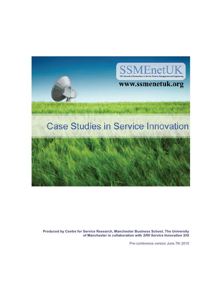 Service Innovation Casebook