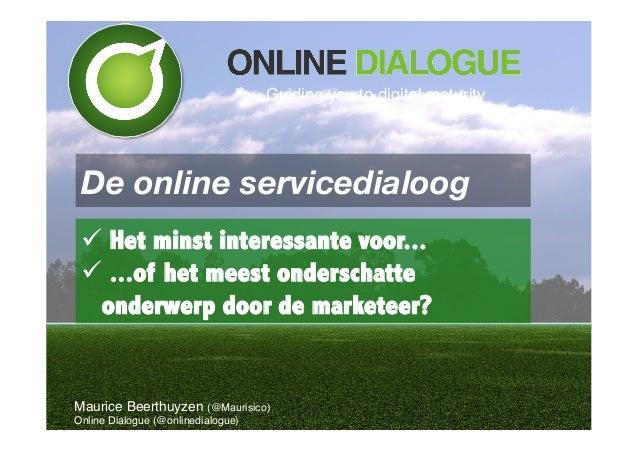 "#DiDo14 Introductie ""online service"" - Maurice Beerthuyzen"