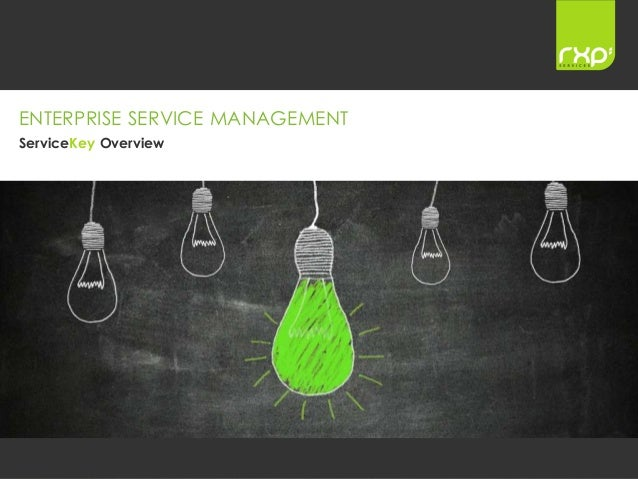 Copyright © rxp Services Ltd. Commercial in Confidence 1 ENTERPRISE SERVICE MANAGEMENT ServiceKey Overview