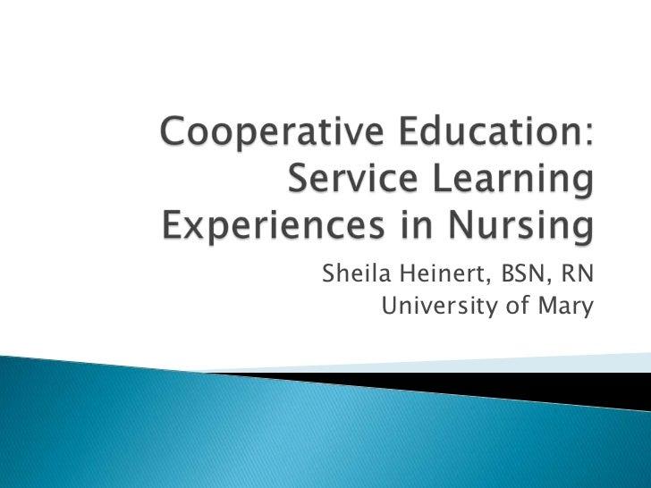 Sheila Heinert, BSN, RN     University of Mary