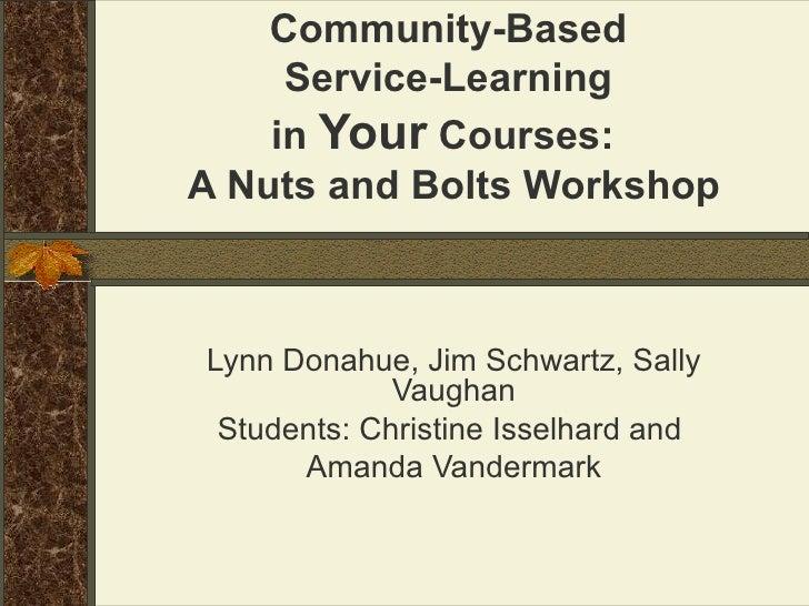Service Learning Workshop