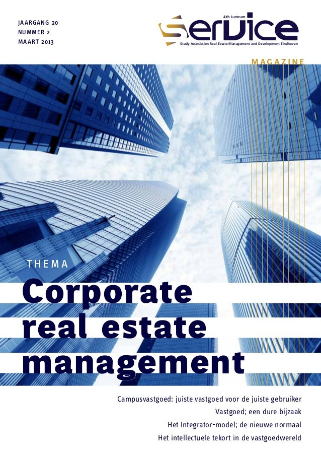 SERVICE Magazine 20.2: Corporate Real Estate Management