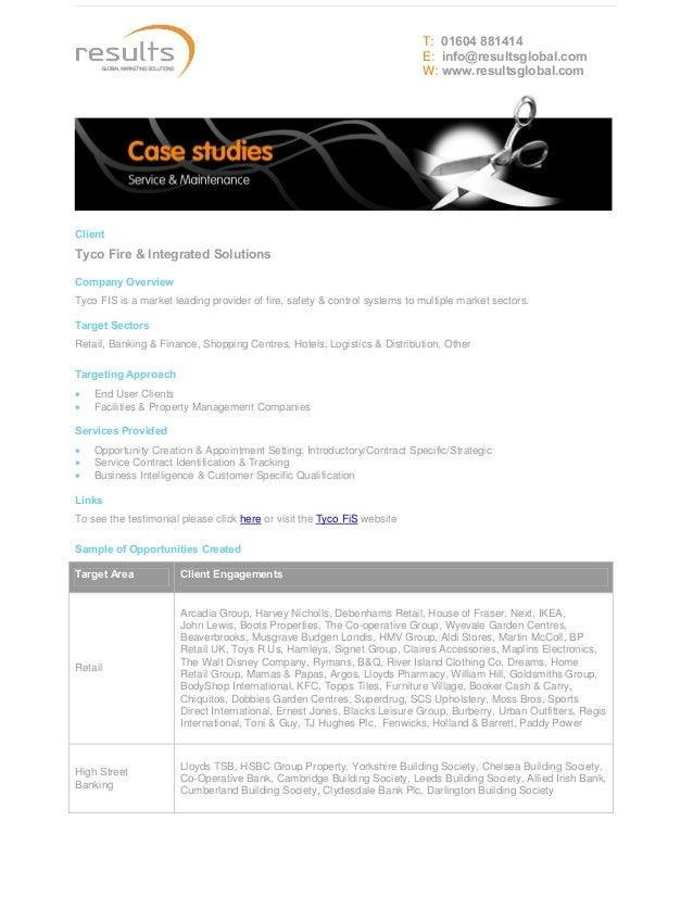 Case Study - Service & Maintenance
