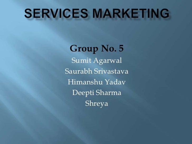 Service marketing @jaipuria institute of management
