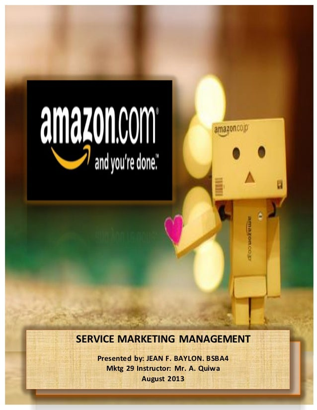 Service marketing management of amazon