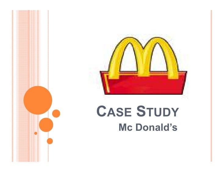 CASE STUDY   Mc Donald¶s