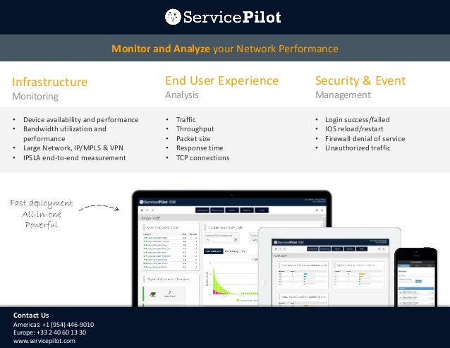 Monitor and Analyze your Network Performance  Infrastructure  End User Experience  Security & Event  Monitoring  Analysis ...