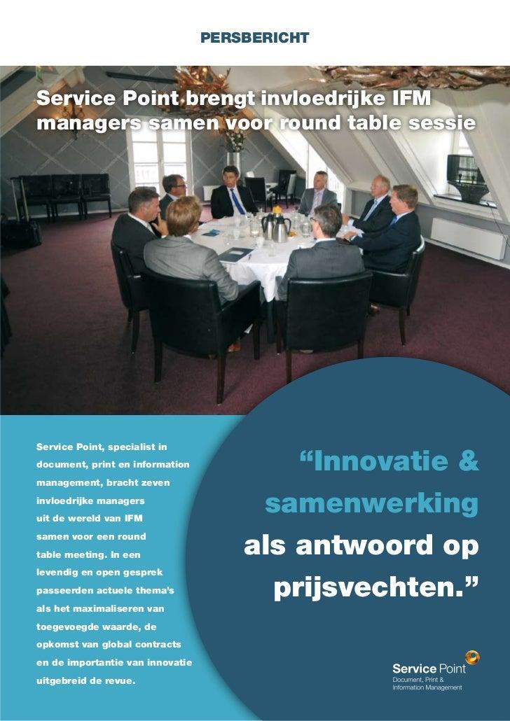 Service point brengt invloedrijke ifm managers samen voor round table sessie