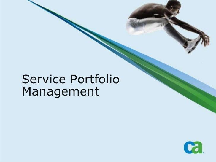 Service Portfolio Management<br />