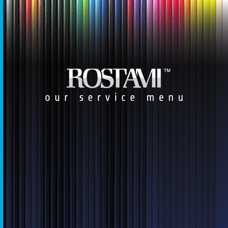 our service menu