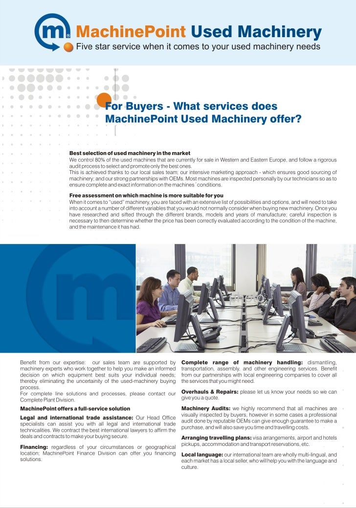 MachinePoint Services For Buyers
