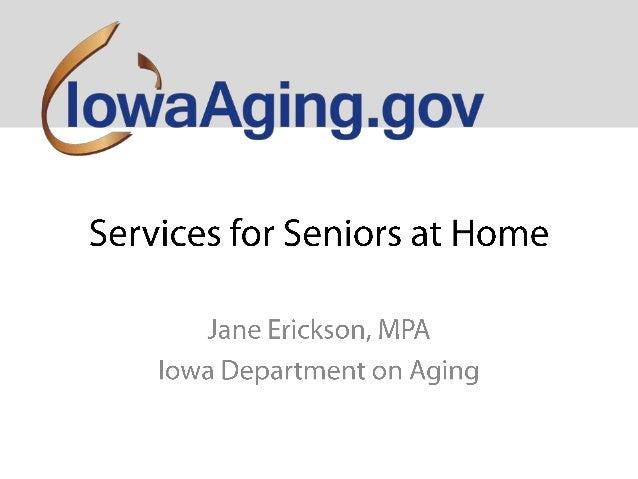 Services for Seniors - Jane Erickson