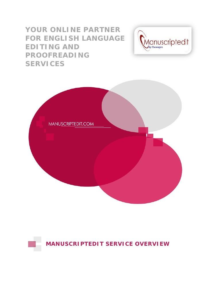 Manuscript editing services free