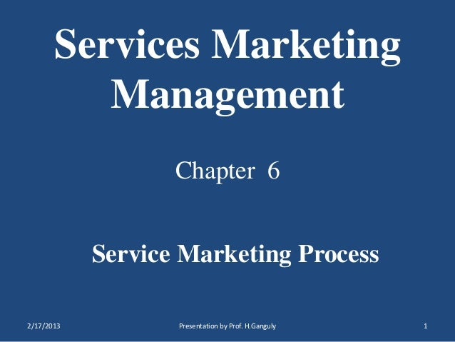 Services marketing  ch. 6
