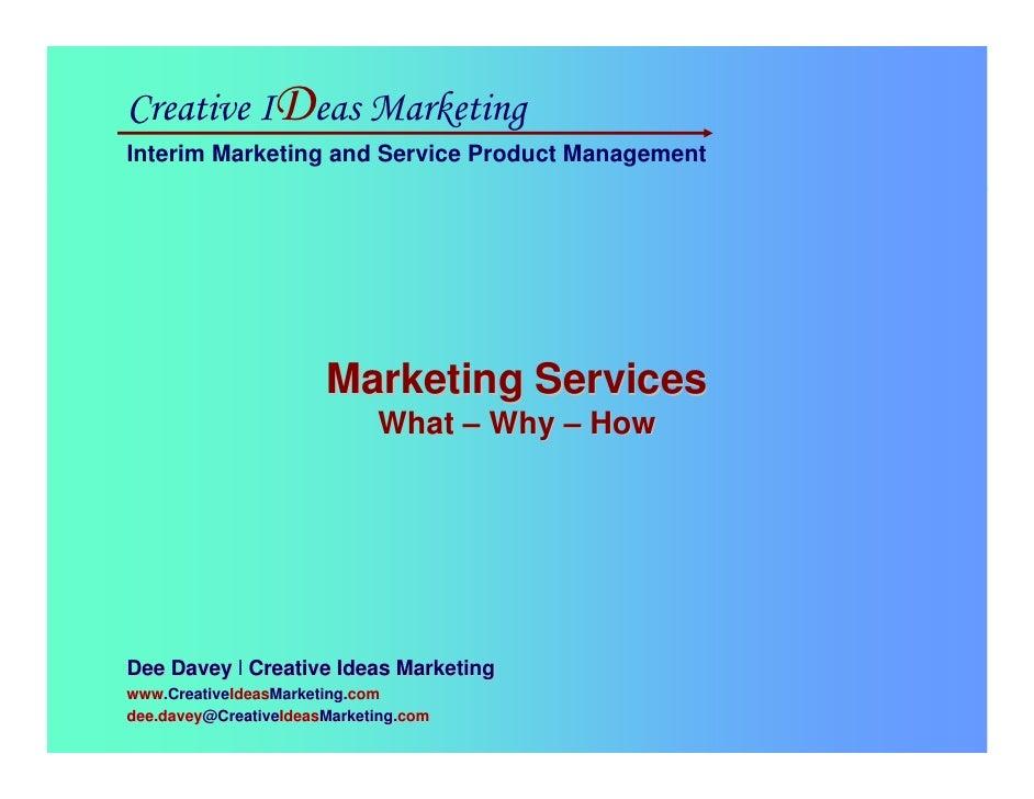 Services Marketing For LA2M, 26 Aug 09