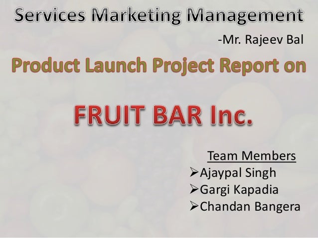 Product Launch - Services & Marketing Management