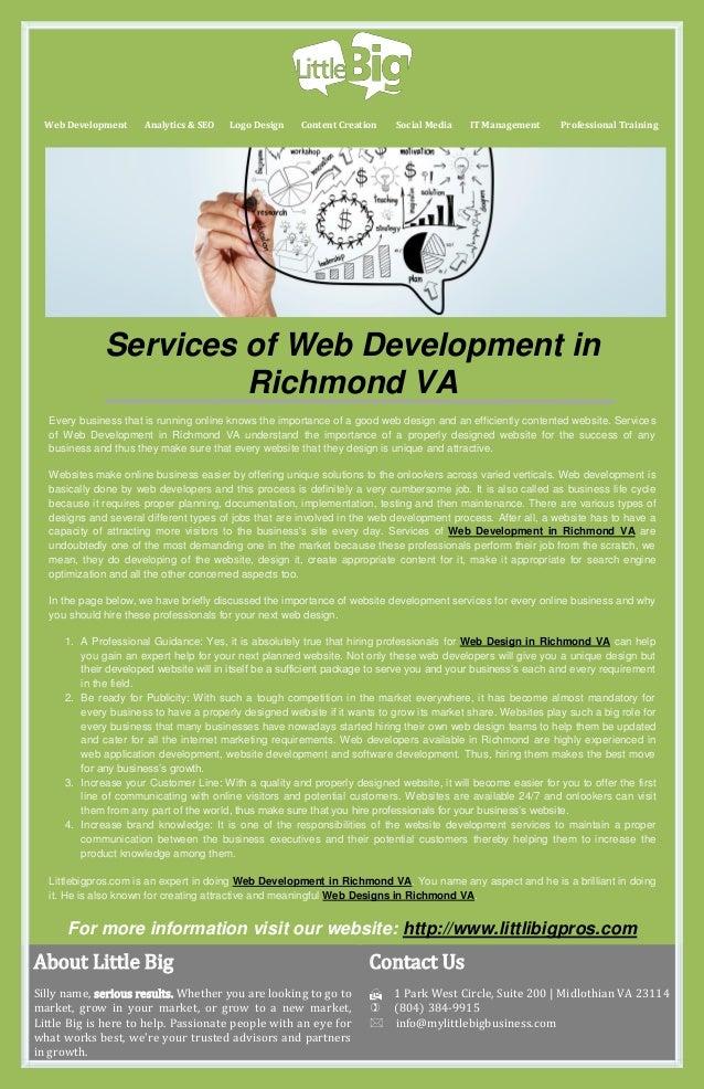 Services of Web Development in Richmond VA