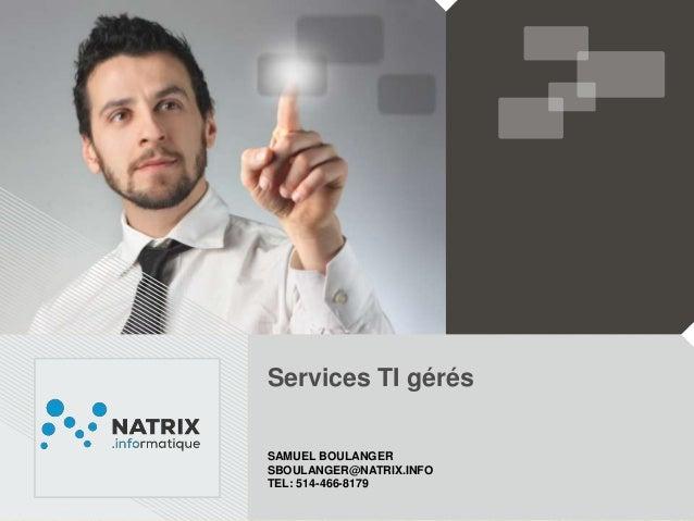 Services TI gérés