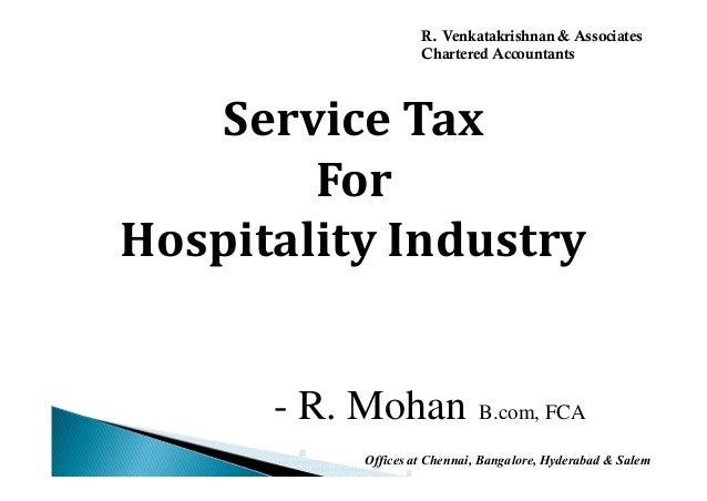 Service tax hotels & hospitality