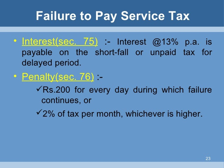 Failure to Pay for Services?