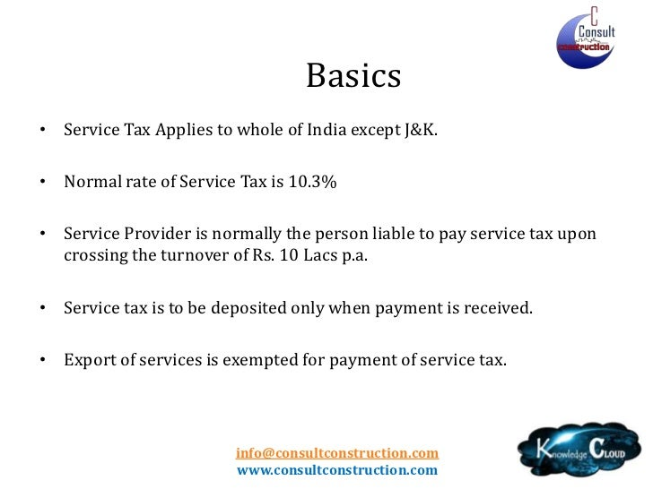 Service tax on works contract (Pre-Negative List)