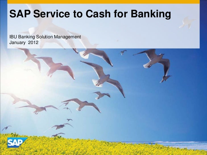 SAP Service to Cash for BankingIBU Banking Solution ManagementJanuary 2012