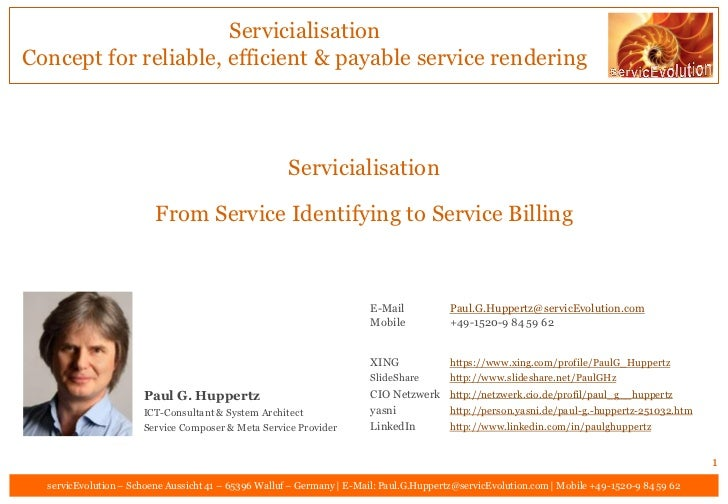 Servicialisation - From Service Identifying to Service Billing V01.02.00