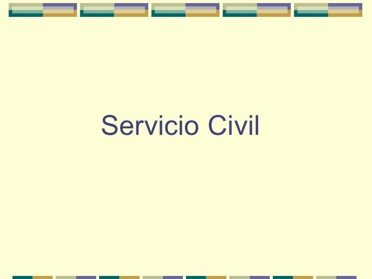 Servicio Civil Comparado