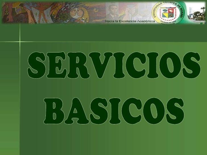 Servicio básicos
