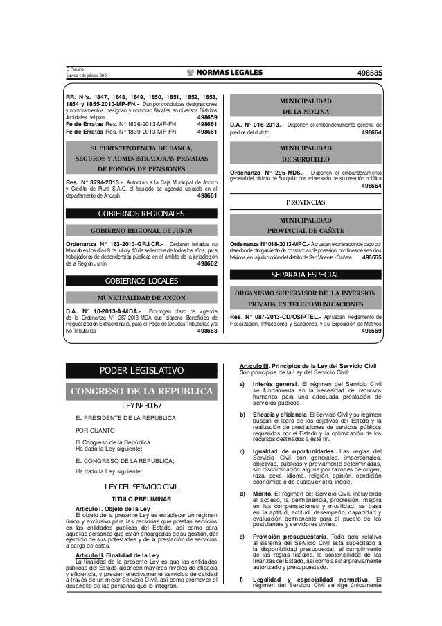 Ley Servicio Civil (Promulgada)