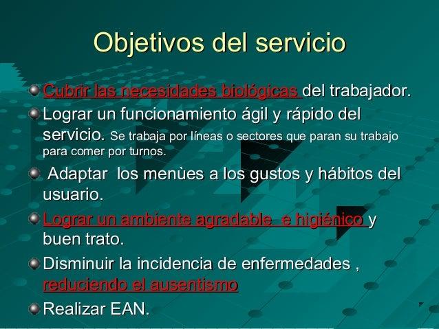 Servicio de alimentaci n comedor industrial for Concepto de comedor industrial