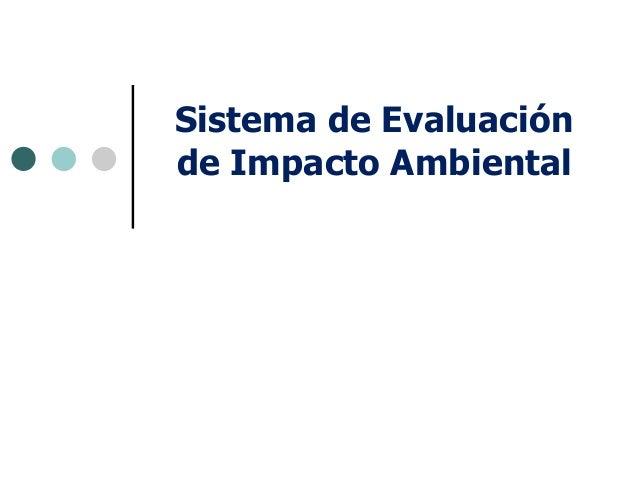 Servicio de evaluacion ambiental. clase 20 noviembre u del mar