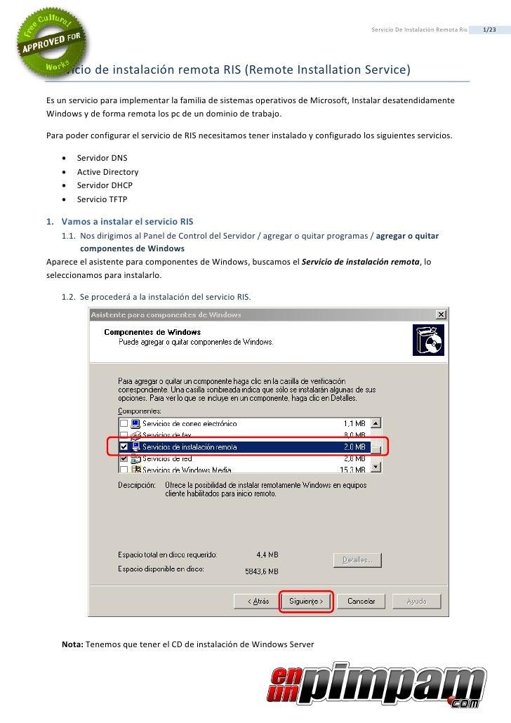 Servicio De InstalacióN Remota Ris