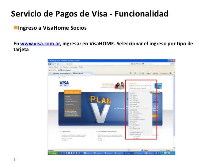 Servicio de pagos visa   funcionalidad en visa home-socios - dic 2010