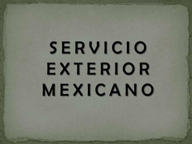 Servicio exterior mexicano