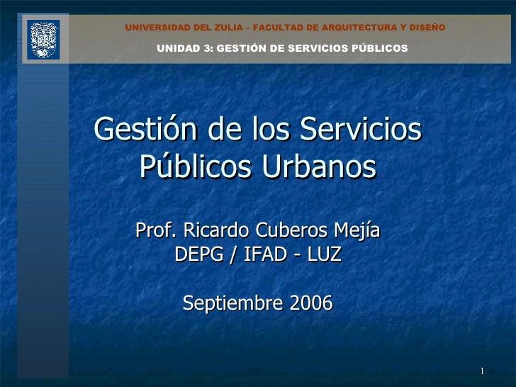 Servicios Públicos Urbanos (3)
