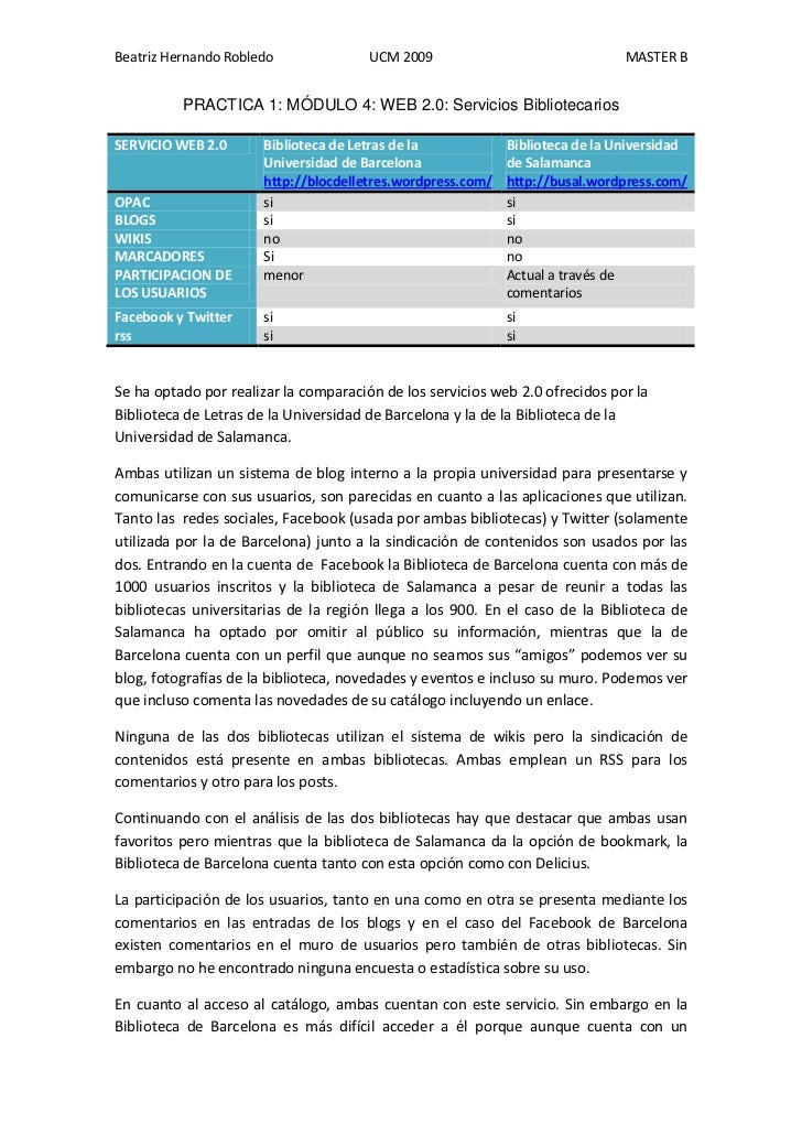 Beatriz Hernando Robledo               UCM 2009                               MASTER B          PRACTICA 1: MÓDULO 4: WEB ...