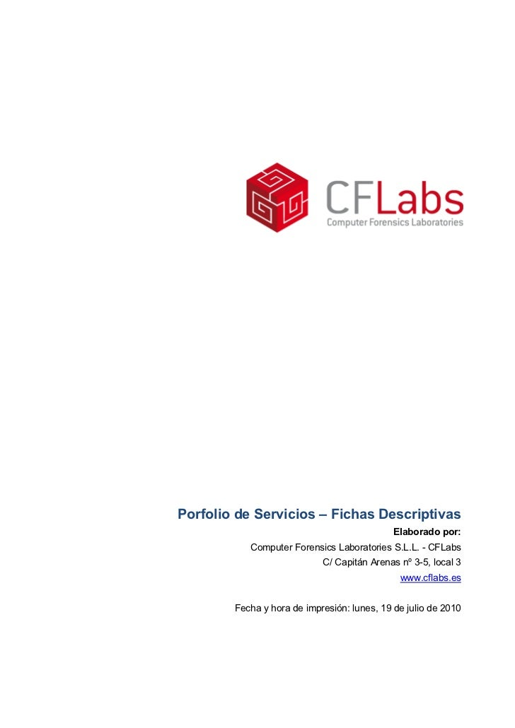 Porfolio de Servicios – Fichas Descriptivas                                             Elaborado por:           Computer ...