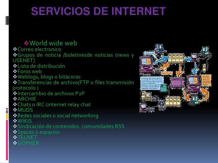 Servicios de internet<br /><ul><li>World wide web