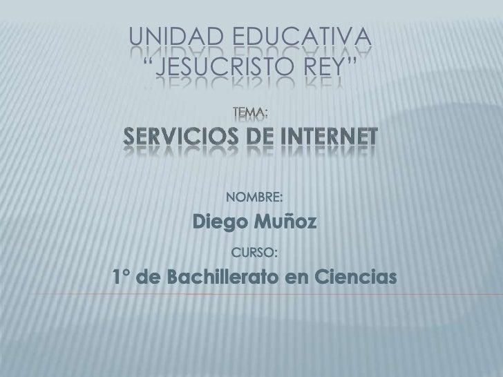"""UNIDAD EDUCATIVA """"JESUCRISTO REY"""""""