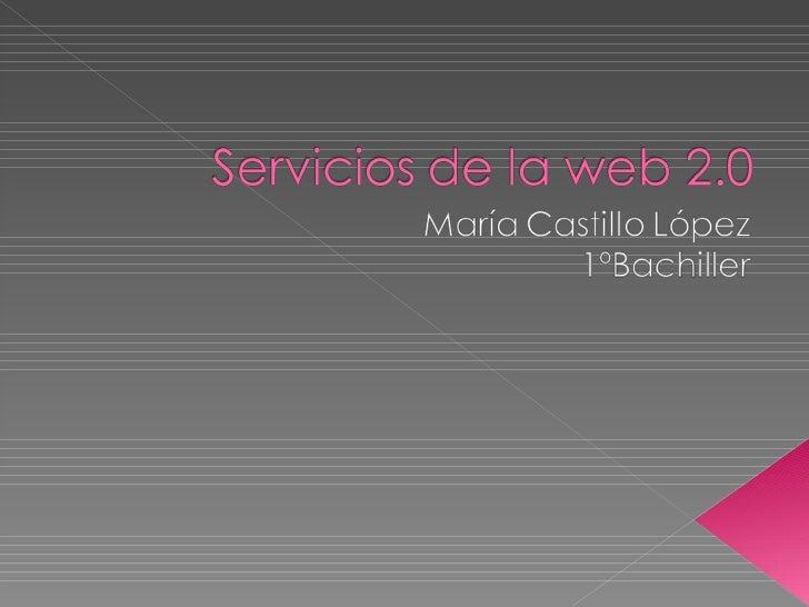Servicios De La Web 2
