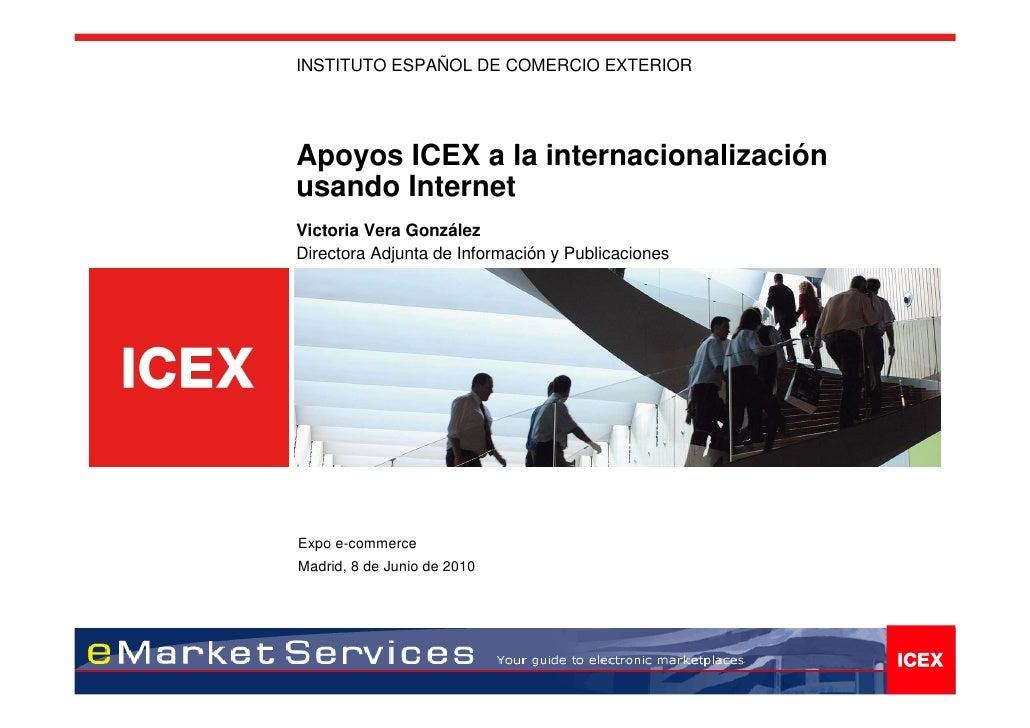 Servicios ICEX de apoyo a las empresas en Internet