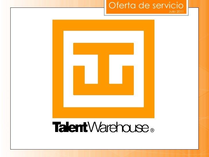 Oferta de servicio Julio 2011