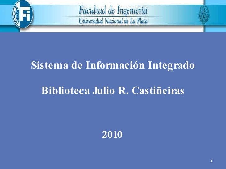 Servicios Biblioteca de Ingenieria UNLP  2010