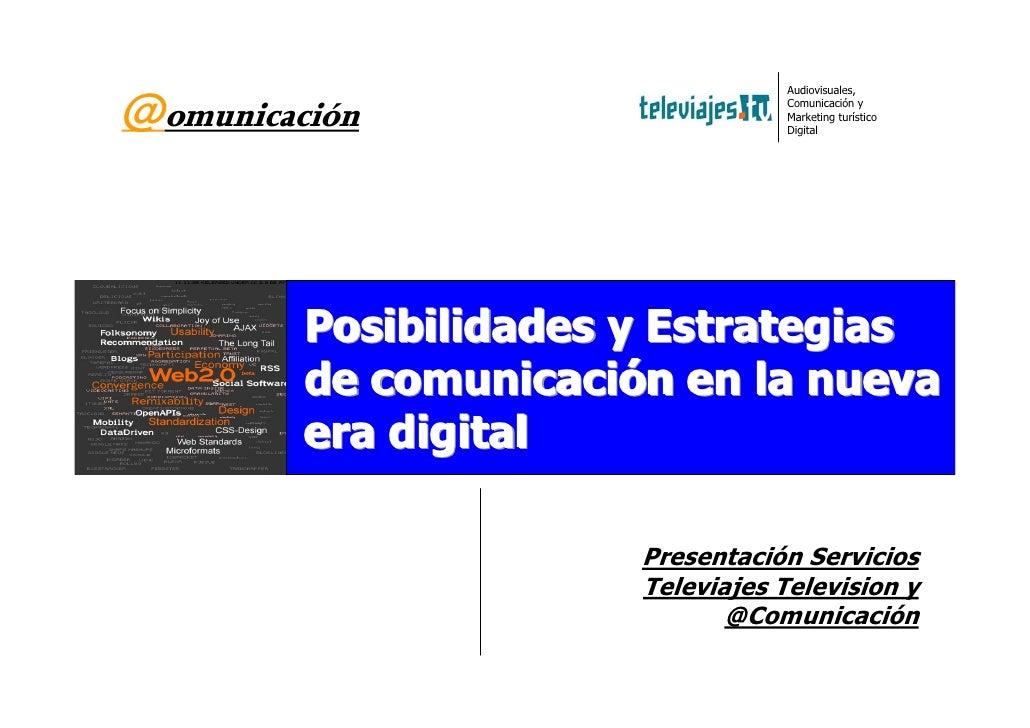 Servicios televiajes comunicación Online