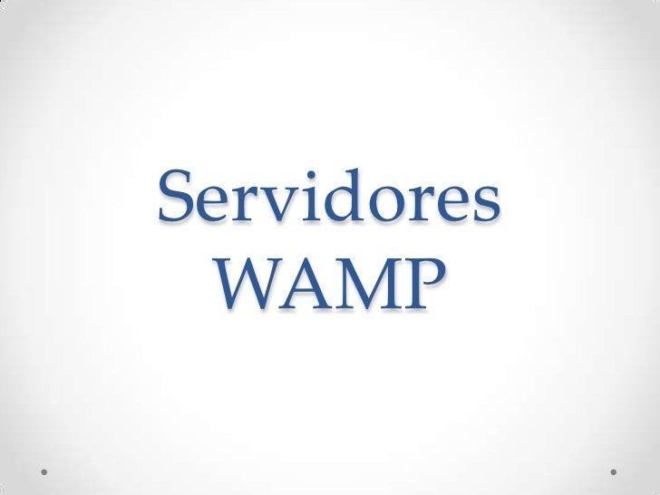 Servidores wamp